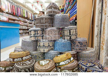 Traditional Omani Kuma Hats
