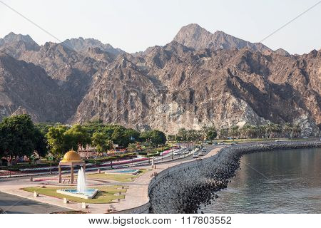 Corniche Road In Muscat, Oman