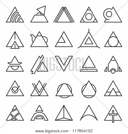 Triangle Experimental Icons