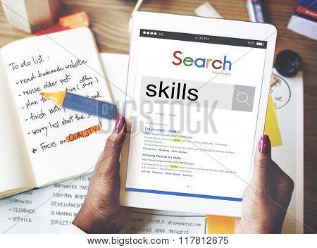 Skills Talent Expert Aptitude Proficiency Professional Concept