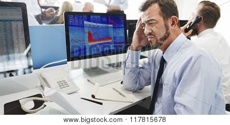 Businessman Stress Failed Unsuccessful Stock Concept