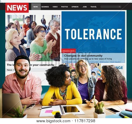 Tolerance Acceptance Perspective Tolerate Toleration Concept poster