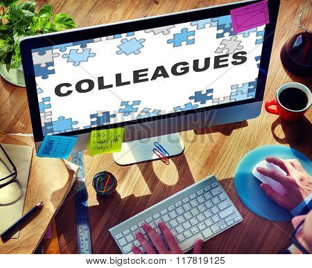Colleagues Partner Team Office mates Business Concept