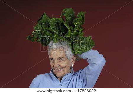 Senior Woman With Chard