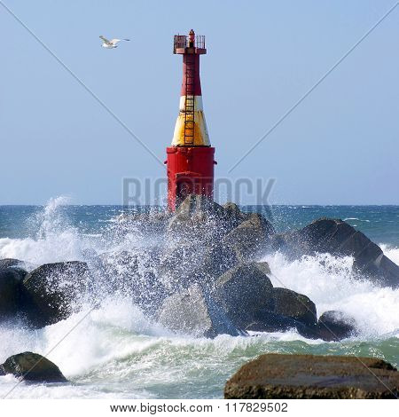 Old nautical  lighthouse