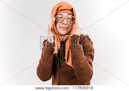 Cartooned Old Woman