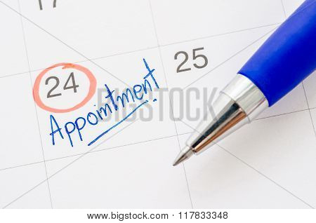 The Appointment Handwritten.