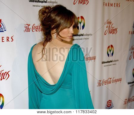 Jennifer Lopez at the 2009 Noche De Ninos Gala held at the Beverly Hilton Hotel in Beverly Hills, California, United States on May 9, 2009.