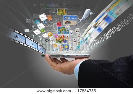 Internet On Smart Phone Concept