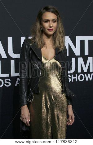 LOS ANGELES - FEB 10:  Jessica Alba at the SAINT LAURENT At The Palladium at the Hollywood Palladium on February 10, 2016 in Los Angeles, CA