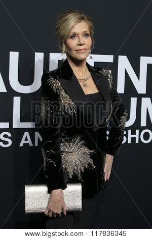 LOS ANGELES - FEB 10:  Jane Fonda at the SAINT LAURENT At The Palladium at the Hollywood Palladium on February 10, 2016 in Los Angeles, CA