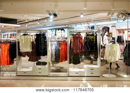 HONG KONG - JANUARY 27, 2016: shopwindow of the store at Elements Shopping Mall. Elements is a large shopping mall located on 1 Austin Road West, Tsim Sha Tsui, Kowloon, Hong Kong