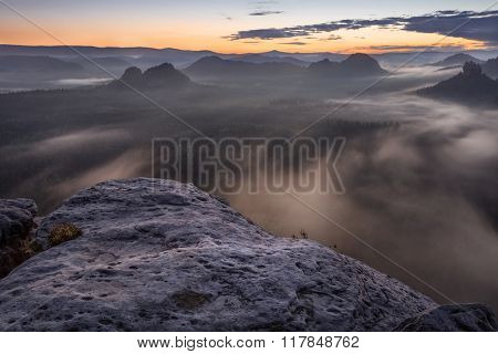 sunrise from Kleiner Winterberg, Saxon Switzerland