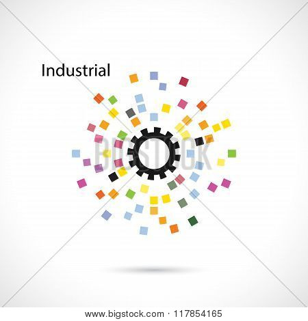 Creative Circle Abstract Vector Logo Design Template. Corporate Business Industrial Creative Logotyp