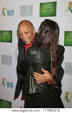 LOS ANGELES - FEB 10:  Quincy Jones, Xriss Jor at the 17th Annual Women's Image Awards at the Royce Hall on February 10, 2016 in Westwood, CA