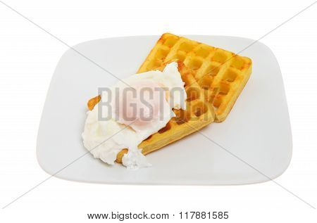 Poached Egg On Waffles