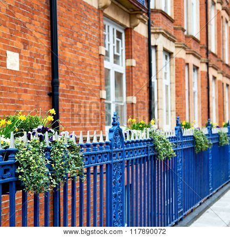 Old Window In Europe London  Red Brick Wall     And      Historical