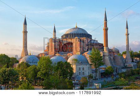 Hagia Sophia On A Sunny Summer Day, Istanbul, Turkey