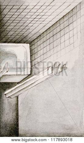 Bathroom shower illustration