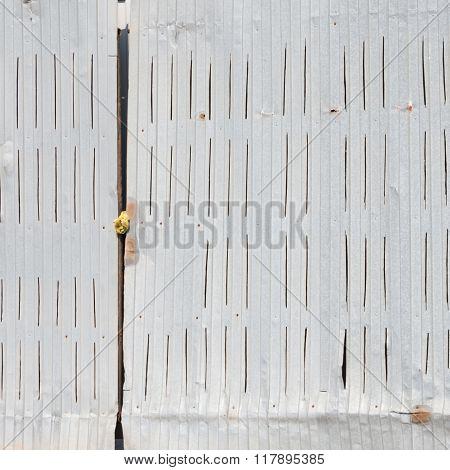Old gray metal gates
