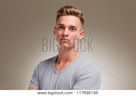 Portrait Of Defiant Looking Male Teenager