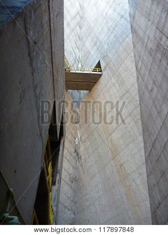 Huge Concrete Structure Of Itaipu Dam