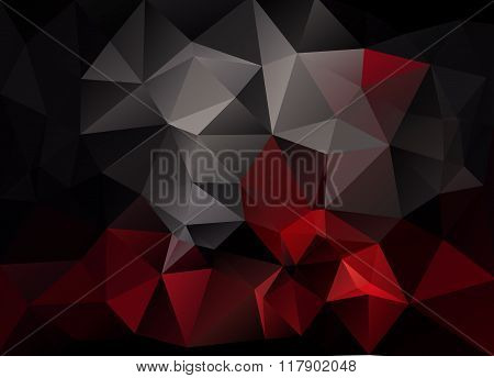 Abstract Vector Background Of Triangles Polygon Wallpaper. Web Design, Template