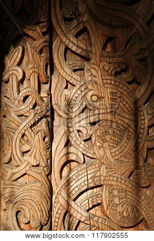 Wooden door ornament
