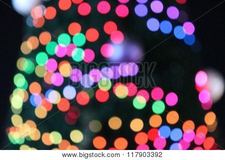 bokeh defocussed background festive
