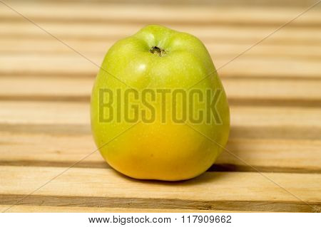 Green Apple On The Table.