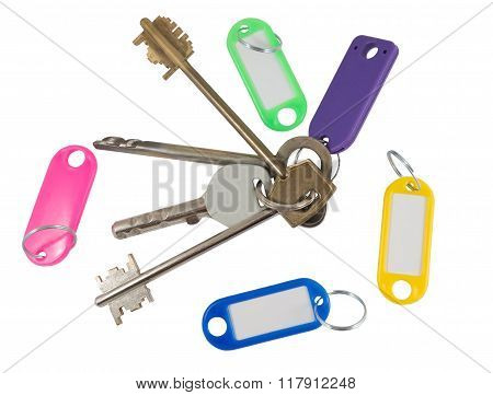 House Key With Blank Label