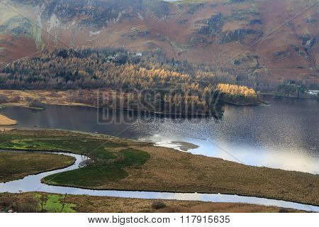 A view of Derwent Water, Lake District .