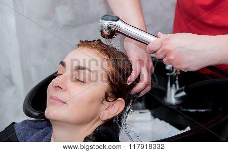 Hair rinsing