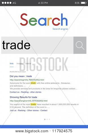 Trade Exchange Import Export Business Transaction Concept poster