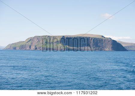 Landscape On The Faroe Islands With Stora Dimun