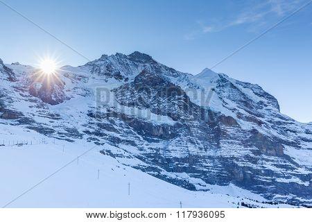 Close View Of Jungfrau From Kleine Scheidegg