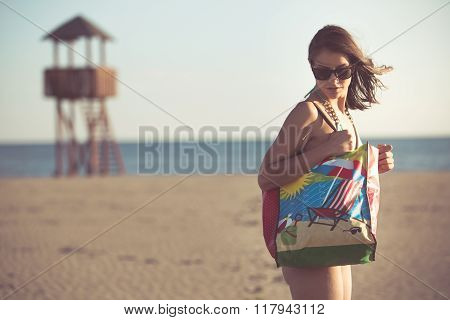 Beach accessory.Going to the sandy beach vacation.Summer beach fashion style starter kit.Seaside off