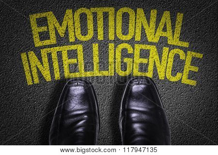 Top View of Business Shoes on the floor with the text: Emotional Intelligence