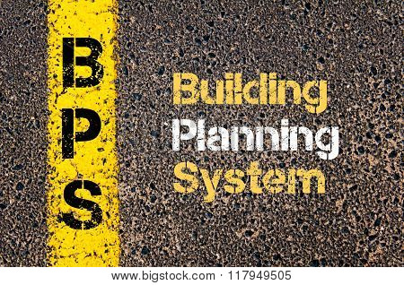 Business Acronym Bps Building Planning System