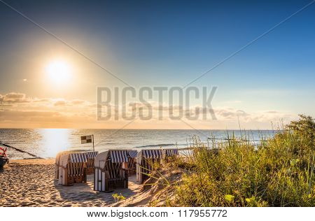 Beach Chairs In The Morning
