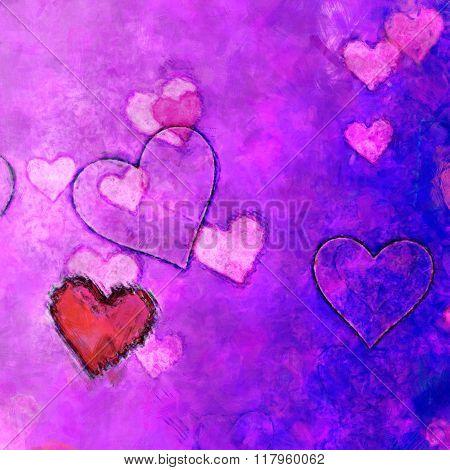 Sloppy Painted Hearts
