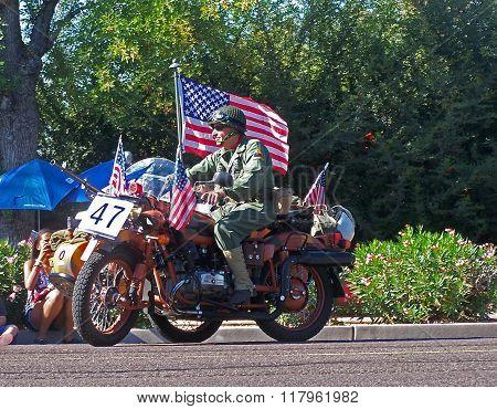 PHOENIX,  AZ- NOV. 11: Veteran's Day Parade in Central Phoenix