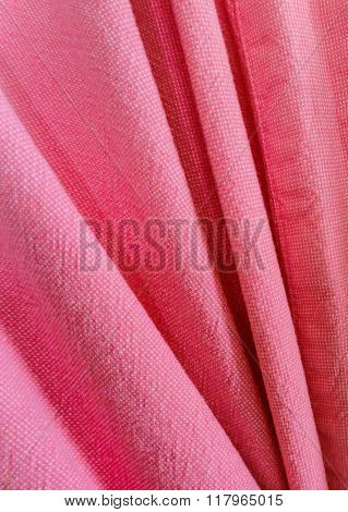 disastrously of Plain Pink Fabric Texture Background