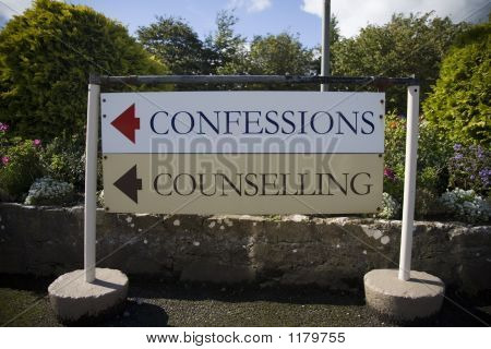 Confessions Sign