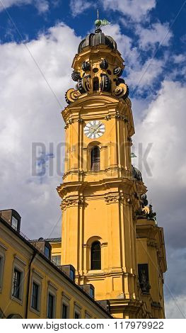 The famous church -Theatinerkirche- in Munich. Germany