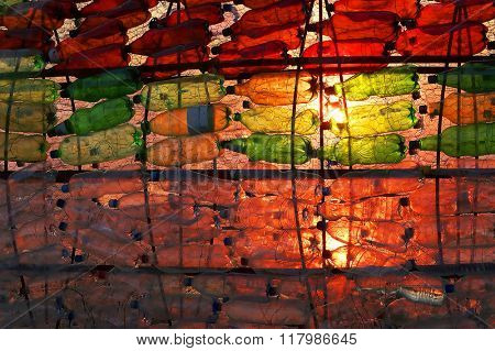 Plastic bottles - abstract background