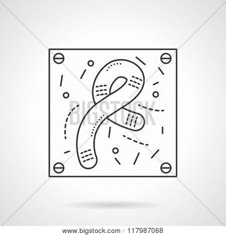 Bacilli icon flat line design vector icon