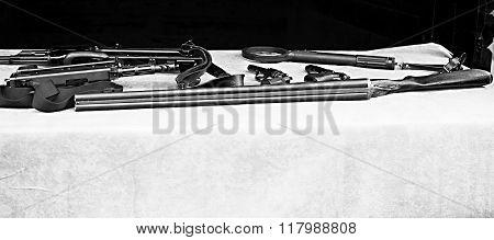 Weapons Display (1)-black & white