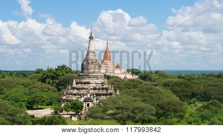 Ananda Temple is a Buddhist temple built in 1105 AD on the plains of Bagan, Myanmar