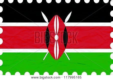 Wrinkled Paper Kenya Stamp
